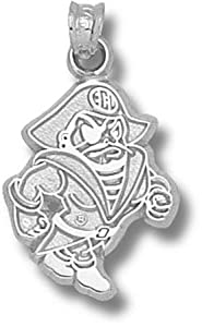 East Carolina University Petey Pendant 3 4 Inch - Sterling Silver by Logo Art