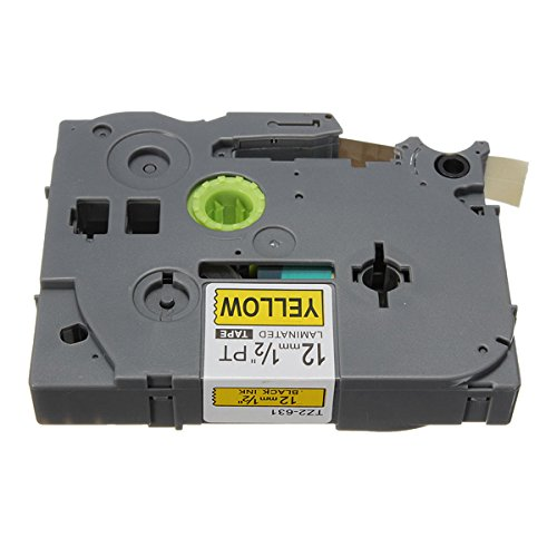 Tze-631 12mm Black On YellowLabel Tape For Brother P-touch Laber Maker (12mm Tape Brothers Labeler compare prices)