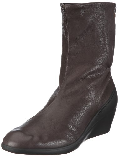 Softinos Women's Nathalie Brown Wedges Boots P900093058 4 UK