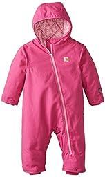 Carhartt Baby Girls\' Quick Duck Snowsuit, Pink Thistle, 24 Months