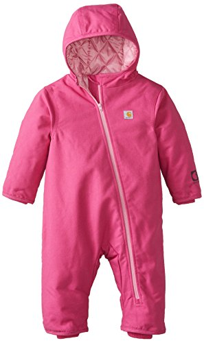 Carhartt Baby-Girls Infant Quick Duck Snowsuit, Pink Thistle, 24 Months front-1005368