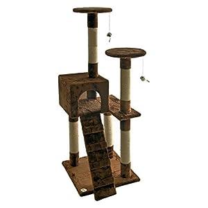 Go Pet Club Cat Tree Furniture 52 in. High Sitting Pretty - Brown