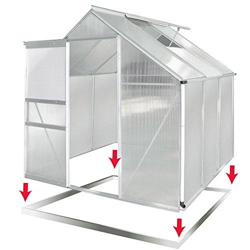 aluminium gew chshaus mit stahlfundament 5 85m alu gartenhaus treibhaus garten heizen und d mmen. Black Bedroom Furniture Sets. Home Design Ideas