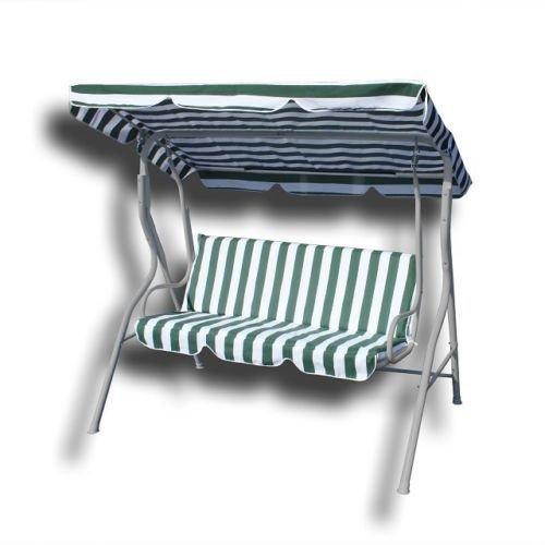 Hollywoodschaukel Gartenschaukel Schaukel Gartenliege Bank Gartenmöbel 3-Sitzer in Grün/Weiß jetzt kaufen