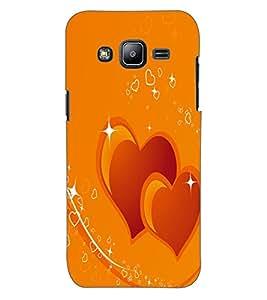 ColourCraft Loving Hearts Design Back Case Cover for SAMSUNG GALAXY J2 J200G