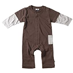 Babysoy Layered One Piece , Chocolate 3-6 Months