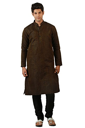 Amora Designer Self design Kurta Churidhar Set – Black