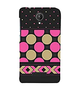 Girly Dotted Checks Pattern 3D Hard Polycarbonate Designer Back Case Cover for Micromax Canvas Spark Q380
