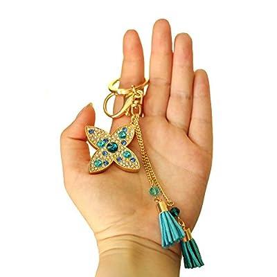 Couleur Or avec Strass étoile en cristal Porte-clés breloque pendentif sac à main sac porte-clés chaîne cadeau nouvelle collection 2016