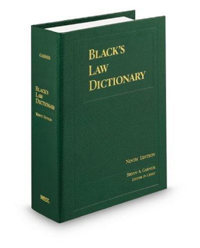 Black's Law Dictionary (Black's Law Dictionary (Standard Edition))