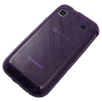 がうがう! docomo GALAXY S SC-02B / SAMSUNG GT-I9000 Clear Soft Case Circle Pattern, Clear Purple 「docomo GALAXY S SC-02B / SAMSUNG GT-I9000」専用 クリアソフトケース サークル・パターン, クリアー・パープル SGSI9000-CVC-05