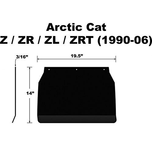 Proven Design SF-01ZR3PB Snowmobile Mud Flap Arctic Cat ZR/ZL/ZRT Plain Black Snow Flap (Plain Mud Flaps compare prices)