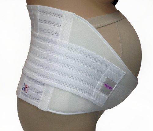 Gabrialla élastique de ceinture de maternité, un solide appui, XX-Large, Blanc