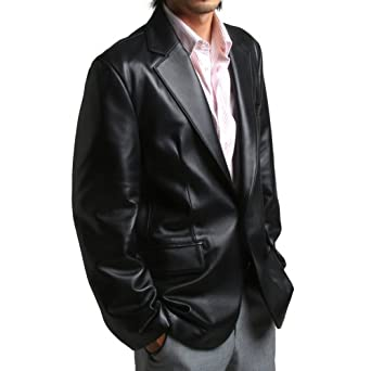 FLATSEVEN Homme en cuir Véritable Blazer Veste Lambskin 1 Bouton