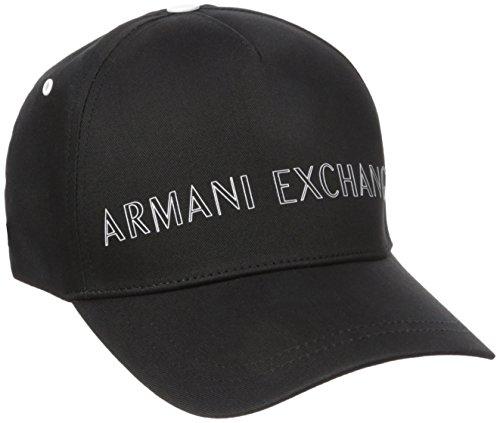 Armani Exchange Men's Outline Logo Hat, Black, One Size (Armani Cap compare prices)