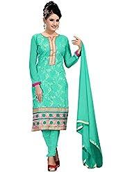 Riti Riwaz Sky Blue Salwar Kameez With Dupatta LNB1008