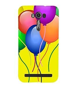 Balloons Clipart 3D Hard Polycarbonate Designer Back Case Cover for Asus Zenfone 2 Laser ZE500KL (5 INCHES)