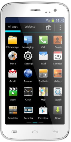 Mobistel MT-7521W Cynus F4 Smartphone (1,3GHz Dual Core Prozessor, micro SD, Dual Sim, 11,4 cm (4,5 Zoll) IPS Display, 5 Megapixel Kamera, Bluetooth 4.0, NFC, Android 4.2) weiß