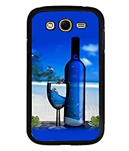 printtech Beach Drink Bottle Wine Back Case Cover for Samsung Galaxy Grand Neo::Samsung Galaxy Grand Neo i9060