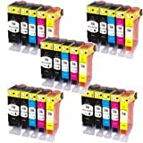 Odyssey Supplies - canon compatible ink cartridges for canon pixma ip3600, ip4600, ip4700, mp540, mp550, mp560, mp620, mp630, mp640, mp980, mp990, mx860, mx870 (25 pack)