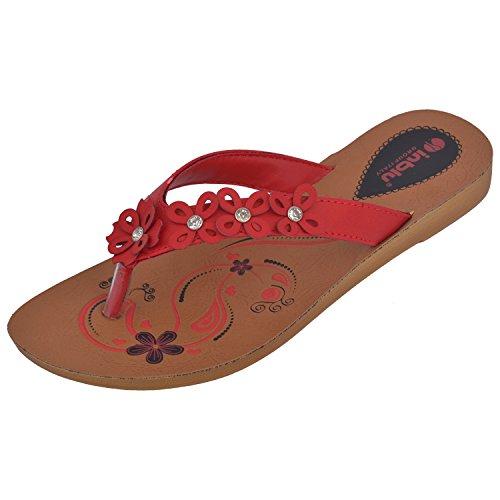 Inblu Fashionable Red Women's PU Slipper 4 UK (IR-03 RED-37)