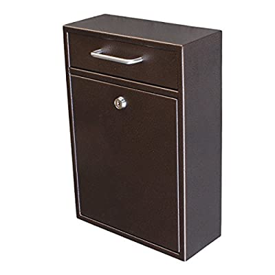Epoch Design Locking Drop Box Wall Mounted Mailbox