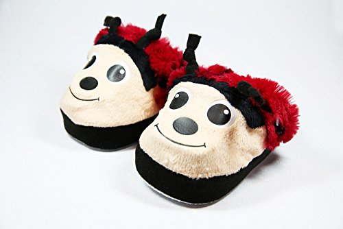 Glowerz Magical Changing Light up Slippers Plush - Ladybug - Large