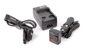 DURAGADGET Chargeur 2 en 1 + 1 batterie pour caméscope GoPro 3, Hero 3 & 3+ et HD3+ (caméscope Silver, Black et White Edition) adaptateur secteur & allume-cigare voiture, batterie Li-ion 1050mAH BONUS - Garantie 2 ans