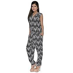 Fashion Wardrobe Tribal Print Black Jumpsuit