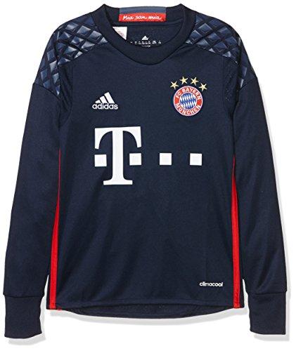 adidas Jungen Torwart/Heim FC Bayern München Replica Trikot, Night Indigo/Red/Night Marine, 152