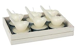 Ivory Love Bird Candles Tea Light Set Of Six Amazoncouk Beauty