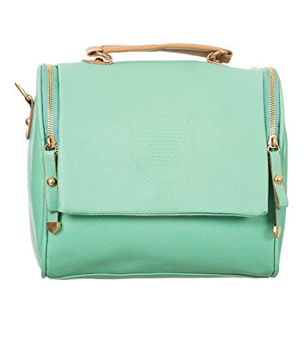 Di Grazia Stylish European Vintage Leather Shoulder Sling Womens Handbag-  Sea Green e83686085a703