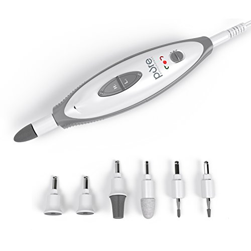 PureNails 7-piece Professional Manicure & Pedicure System – Powerful Electric Nail Drill for Salon-quality Grooming of Hands & Feet At Home