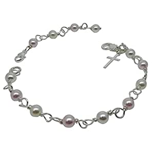 Christening Bracelet with Cross