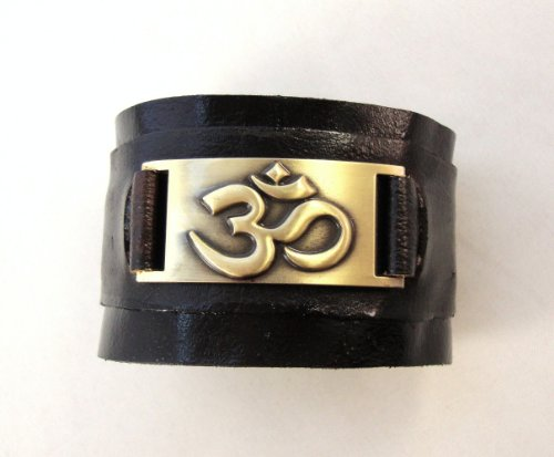 Om Leather Bracelet, Hand Made
