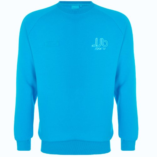 JJB Sports Mens Crew Neck Jumper Sweater Top - Cyan
