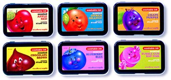 Stamp Pad Scented Redapple Washable -- Case of 8