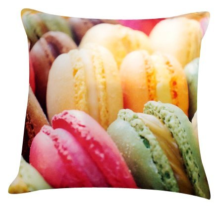 """Artiwa Colorful French Macaron Cotton & Soft Velvet Sofa Couch Throw Decorative Pillow Cover 18""""X18"""" (Pc56A01) front-392600"""