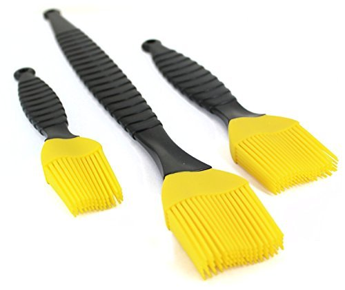 Topicker Set of 3 Silicone Basting Brushes