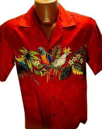 Exclusive Parrot Hawaiian Shirt at Amazon Men's Clothing ...