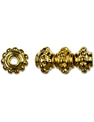 Cousin Gold Elegance 14K Gold Plate 5mm Spacer, 4-Piece