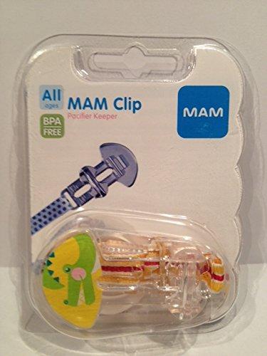 MAM Clip Pacifier Keeper Wildlife - BPA Free (alligator (red yellow ribbon))