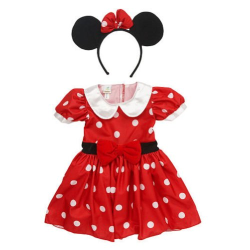Disney Baby-Girls Polka Dot Dress & Headband Minnie Mouse Costume