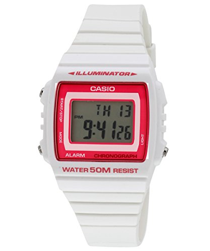 Casio Ladies White Digital Watch with Pink dial W-215H-7A2VDF