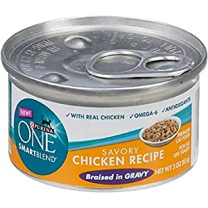 Purina ONE Smart Blend Savory Chicken Braised in Gravy Canned Cat Food