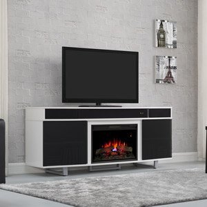 Classicflame Enterprise Electric Fireplace Entertainment In White - 26Mms9626-Nw145