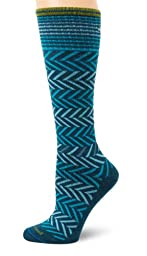 Sockwell Women\'s Chevron Circulator Sock, Small/Medium, Teal