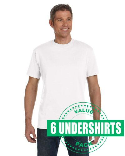 Econscious Men'S 100% Organic Cotton Classic Short-Sleeve T-Shirt - White - Xl-Umtsec1000-6Pk front-560009