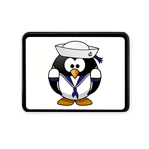 Rectangular Hitch Cover Little Round Penguin - Navy Sailor