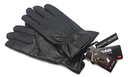 odsukr-mens-touch-screen-real-leather-gloves-thermal-lined-black-driving-winter-gift-m-l-medium-larg